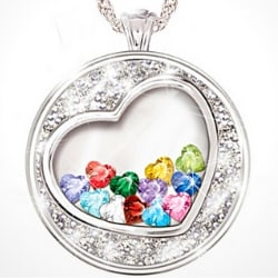 My Grandchildren Fill My Heart with Love Necklace
