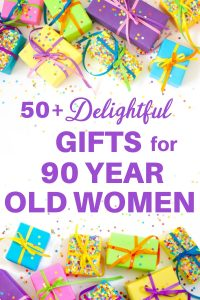 Shopping for the best gift for a 90 year old woman? It's easy to find a present she'll love! Click to see 50+ unique gift ideas for 90 year old woman...with prices starting at under $10! #FINDinista #90thBirthday #giftsforher