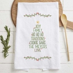 Inexpensive Gift Ideas - Personalized Christmas Tree Tea Towel