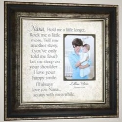 Nana Picture Frame with Quote from Granddaughter