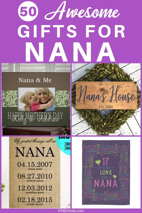Nana Gift Ideas - Looking for awesome gift ideas for Nana? Click to see 50+ great gifts for Nana...prices start at under $15, so you can find a fabulous Mother's Day, Christmas or birthday gift for Nana without spending a fortune! #FINDInista #nanagiftideas #nanagifts