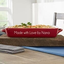 Personalized Casserole Dish - Choice of Styles/Colors