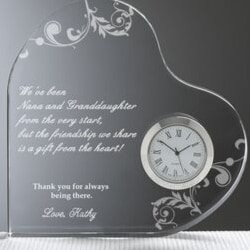 Nana Gift from Granddaughter - Personalized Clock