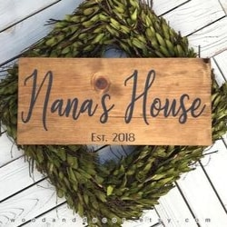 Personalized Nana's House Sign