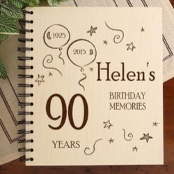 Personalized 90th Birthday Photo Album - Choice of Styles