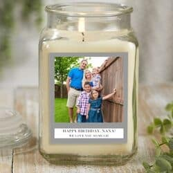 Personalized Birthday Candle for Nana - Choice of Scents