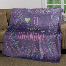 Personalized Blanket with up to 30 Names