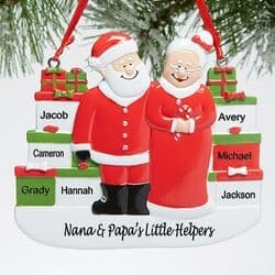 Personalized Christmas Ornament for Grandparents