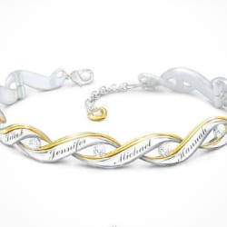 Diamond Bracelet with Grandkids' Names