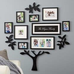Personalized Family Tree Picture Frame Set
