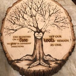 Personalized Family Tree Wood Slice
