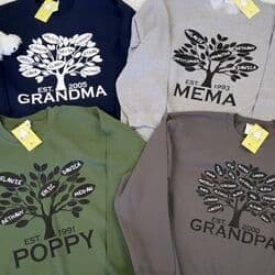 Personalized Family Tree Sweatshirt for Grandma