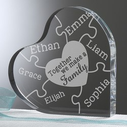 Together We Make a Family Personalized Heart Shaped  Keepsake