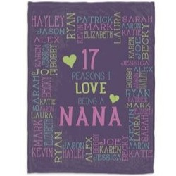 Nana Blanket with up to 30 Names - 3 Colors