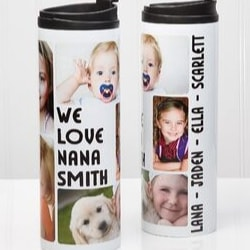 Personalized Nana Tumbler with Grandkids Pictures