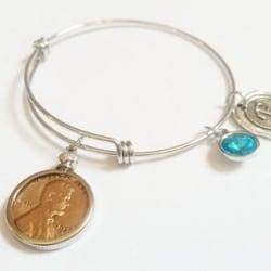 Personalized 1934 Penny Bracelet with Birthstone