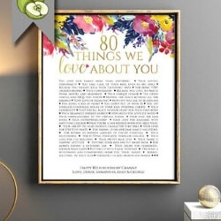 85 Reasons We Love You Personalized Poster