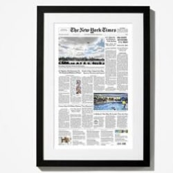 New York Times Day You Were Born Front Page Reprint