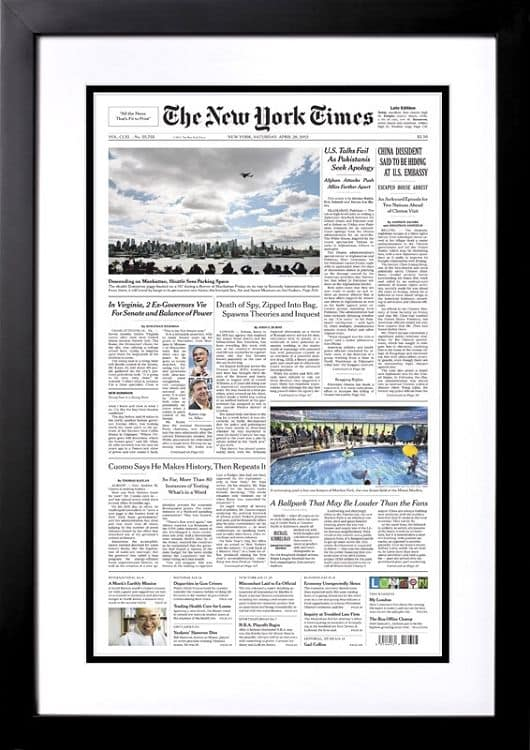 New York Times Front Page Reprint from the Day You Were Born gifts...celebrate an 85th birthday with presents that feature The New York Times front page from their birthdate. Choose from books, puzzles, framed reprints and more!