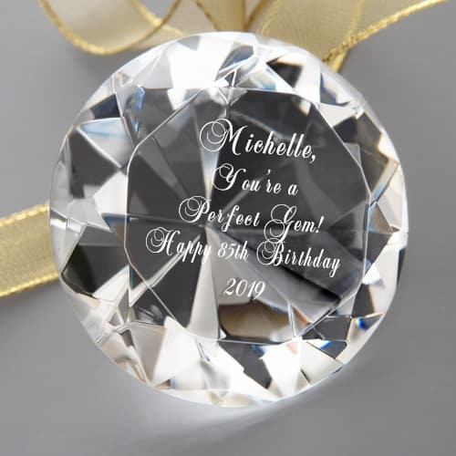 85th Birthday Keepsake Gift for Woman - Cute crystal keepsake is a great gift for 85 year old woman who has everything!