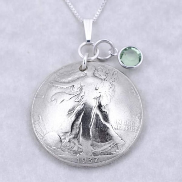 85th Birthday Necklace for Women - Delight any lady who is celebrating her 85th birthday with this striking 1934 half dollar coin necklace! Click to see more 85th birthday jewelry and 50+ other fabulous gifts for 85 year old women.