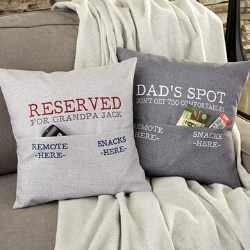 Personalized Pocket Pillow - Choice of Colors