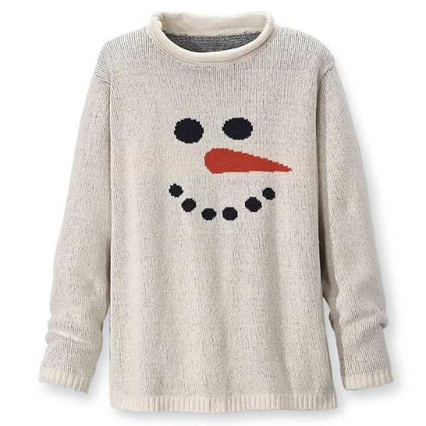 Cute Christmas Sweaters for Women - How adorable is this cheerful snowman pullover?
