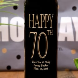 Personalized Birthday Bottle of Wine - Choice of Styles