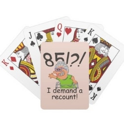 Funny 85th Birthday Playing Cards