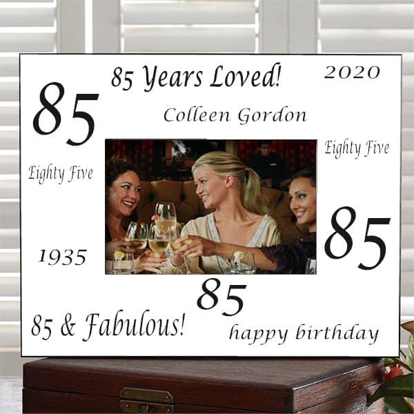Personalized 85th Birthday Picture Frame