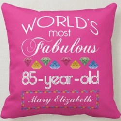 Personalized 85th Birthday Pillow for Women
