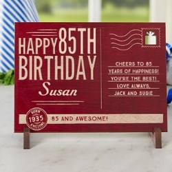 Personalized Wooden Post Card - 2 Colors
