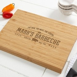 The Man, The Meat, The Legend Bamboo Cutting Board