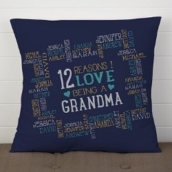 Personalized Reasons Why Pillow - Up to 30 Names