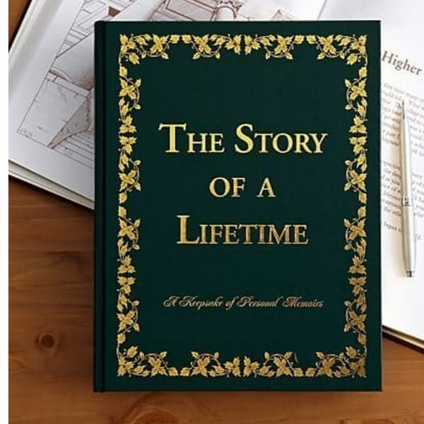 Unique birthday gift for 85 year old - Delight your favorite senior with this striking memory keepsake journal! Elegant book features hundreds of questions designed to provoke memories, beliefs and wisdom gained from their life of experiences.