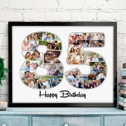 85th Birthday Photo Collage Print