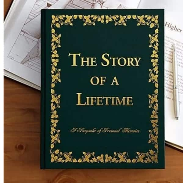 Birthday gifts for elderly men - Looking for a unique birthday gift for the older man who has everything? Impress him with this thoughtful hardbound Story of a Lifetime memory journal!