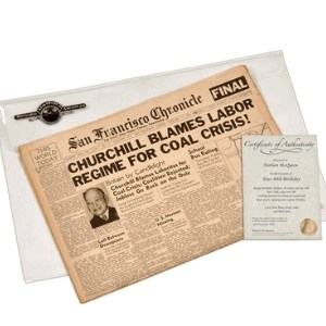 Original Newspaper from The Day You Were Born