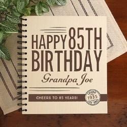 Personalized 85th Birthday Photo Album