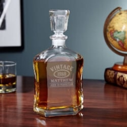 Aged to Perfection Personalized Whiskey Decanter