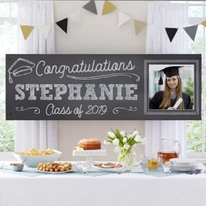Chalkboard Style Graduation Photo Banner