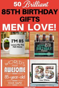 Gifts for 85 Year Old Man - Shopping for the perfect Christmas or birthday gift for an 85 year old man? Click to see 50+ awesome gift ideas he'll love!