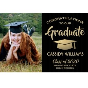 Grad Yard Sign with Photo