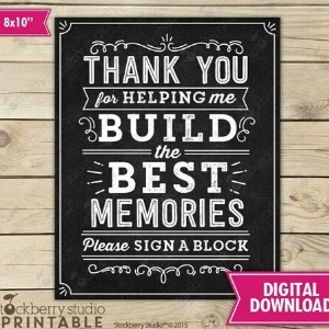 Jenga Graduation Party Guest Book Sign