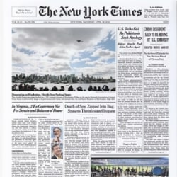 New York Times Front Page Reprint from The Day He Was Born - Framed or Unframed