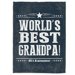 Personalized 85th Birthday Blanket for Him