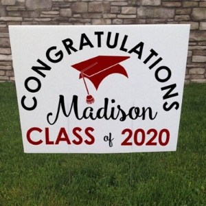 Personalized Congratulations Graduate Yard Sign