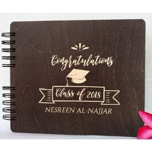 Personalized Wooden Graduation Guest Book - Choice of Styles