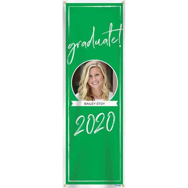 Vertical Graduation Party Banner with Picture