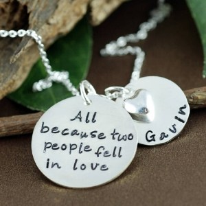 All Because Two People Fell In Love Name Necklace